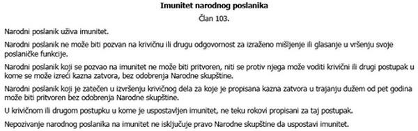 imunitet narodnog poslanika