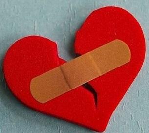 srce na pola